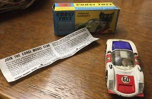 【送料無料】模型車 モデルカー スポーツカー コーギーポルシェカレラcorgi toys 330 porsche carrera 6 made in gt britain avec notice, bote dorigine