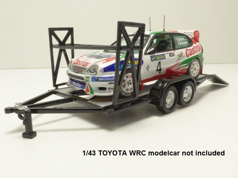 【送料無料】模型車 モデルカー スポーツカー ポルトカータイヤノワールremorque plateau porte auto range pneus noir 143