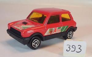 【送料無料】模型車 モデルカー スポーツカー セダン#majorette 155 nr 270 autobianchi a112 limousine rot nr 1 393