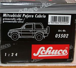 【送料無料】模型車 モデルカー スポーツカー モデルパジェロカブリオレオリジナルボックスschuco 124 metallmodell 05502 mitsubishi pajero cabrio neu in ovp