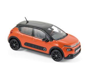 【送料無料】模型車 モデルカー スポーツカー シトロエンオレンジcitroen c3 2016 orangeschwarz 143 norev 155266 neu ovp