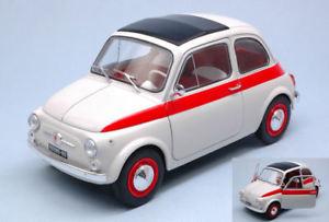【送料無料】模型車 モデルカー スポーツカー フィアットスポーツホワイトレッドハットモデルfiat 500 l sport 1960 white red 118 model 1801401 solido