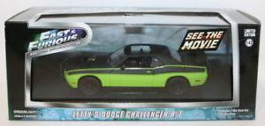 【送料無料】模型車 モデルカー スポーツカー ライトスケールダッジチャレンジャーgreenlight 143 scale 86230 fast amp; furious lettys dodge challenger rt