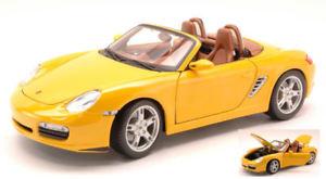 【送料無料】模型車 モデルカー スポーツカー ポルシェボクスターイエローモデルporsche boxster s cabrio 2000 yellow 118 model 31123y maisto