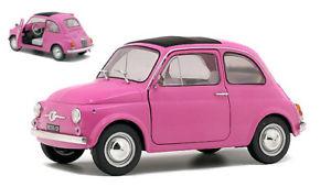 【送料無料】模型車 モデルカー スポーツカー フィアットピンクモデルfiat 500 pink 1969 118 model 1801402 solido