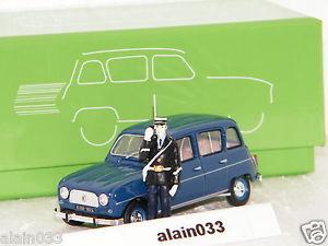 【送料無料】模型車 モデルカー スポーツカー ルノーrenault 4l 1969 gendarmerie figurine eligor 143 ref 101579
