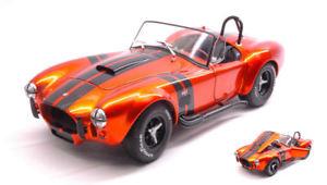 【送料無料】模型車 モデルカー スポーツカー コブラメタリックオレンジブラックモデル