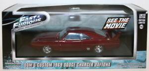 【送料無料】模型車 モデルカー スポーツカー ライトスケールカスタムデイトナgreenlight 143 scale 86221 fast amp; furious doms custom 69 dodge charger daytona