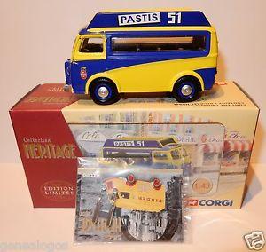 【送料無料】模型車 モデルカー スポーツカー コーギープジョーボックスcorgi heritage peugeot d3a pernod fils pastis 51 143 in box