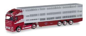 【送料無料】模型車 モデルカー スポーツカー ボルボトラックトターオランダherpa 306201 volvo fh gl xl viehtransportersattelzug vaex nl