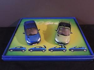 【送料無料】模型車 モデルカー スポーツカー ミニチュアプジョーcret 2 voitures miniatures peugeot 206 cc norev 143