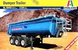 【送料無料】模型車 モデルカー スポーツカー ダンパートレーラースカラss italeri 3845 dumper trailer scala 124