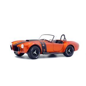 【送料無料】模型車 モデルカー スポーツカー ソロコブラオレンジsolido soli1850016 ac cobra 427 mkii orange 1 noire 1965 118