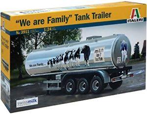 【送料無料】模型車 モデルカー スポーツカー タンクトレーラスカラss italeri 3911 we are family tank trailer  scala 124
