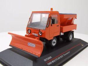【送料無料】模型車 モデルカー スポーツカー オレンジモデルカーモデルmulticar m25 1980 orange mit schneepflug, modellauto 143 ist models