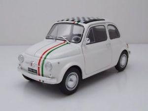 【送料無料】模型車 モデルカー スポーツカー フィアットイタリアホワイトモデルカーfiat 500 l 500 italia 1968 wei, modellauto 118 solido