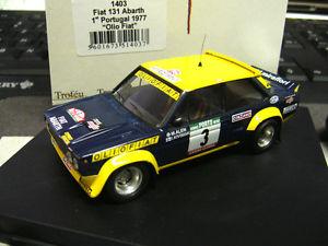 【送料無料】模型車 モデルカー スポーツカー フィアットアバルトラリーポルトガル#フィアットfiat 131 rallye abarth portugal 1977 3 alen olio fiat sieger winner trofeu 143