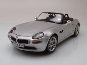 【送料無料】模型車 モデルカー スポーツカー モデルカーbmw z8 cabrio silber, modellauto 118 maisto