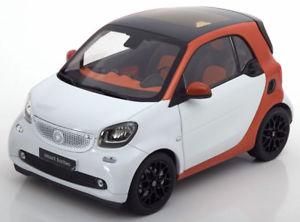 【送料無料】模型車 モデルカー スポーツカー スマートフォーツークーペホワイトオレンジメタリック118 norev smart fortwo coupe 2014 whiteorangemetallic