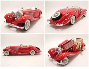 【送料無料】模型車 モデルカー スポーツカー メルセデスロードスターレッドモデルカーmercedes 500 k roadster 1936 rot, modellauto 118 maisto