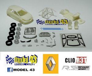 【送料無料】模型車 モデルカー スポーツカー ルノークリオキットrenault clio r3t rs   kit montaggio