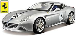 【送料無料】模型車 モデルカー スポーツカー フェラーリカリフォルニア#シルバーシルバーコレクションferrari california t 14 silber silver 70th anniversary collection118 bburago