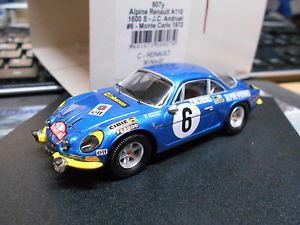 【送料無料】模型車 モデルカー スポーツカー ルノーアルパインモンテカルロラリー#renault alpine a110 1600 s rallye monte carlo 1972 6 andruet trofeu 143