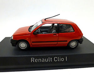 【送料無料】模型車 モデルカー スポーツカー ルノークリオrenault clio 1, rot, norev 143