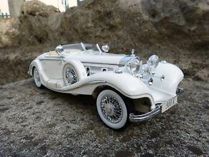 【送料無料】模型車 モデルカー スポーツカー メルセデスmercedes 500 k 118 maisto boite