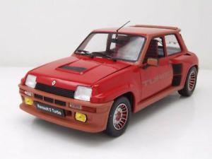【送料無料】模型車 モデルカー スポーツカー ルノーターボレッドモデルカーrenault r5 turbo 1 1984 rot, modellauto 118 solido