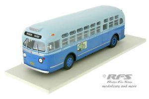 【送料無料】模型車 モデルカー スポーツカー モーターサンタモニカバスネットワークバスgeneral motors tdh 3714 1955 santa monica municipal bus lines 143 ixo bus 007
