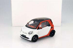 【送料無料】模型車 モデルカー スポーツカー スマートフォーツークーペオレンジホワイトsmart fortwo coupe c453 orange wei 118 norev
