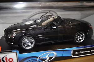 【送料無料】模型車 モデルカー スポーツカー メルセデスカブリオレmercedes sl 500 cabrio 2012 antrazith 118 maisto neu amp; ovp