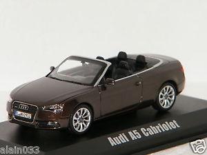 【送料無料】模型車 モデルカー スポーツカー アウディカブリオレチークブラウンメタリックaudi a5 cabriolet 2012 teakbrown metallic norev 143 ref 830110