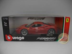 【送料無料】模型車 モデルカー スポーツカー フェラーリレースferrari 488 gtb race amp; play burago 118 bu160080re