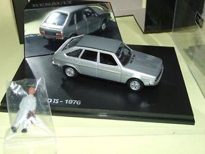 【送料無料】模型車 モデルカー スポーツカー ルノーrenault 30 ts 1976 gris norev avec une figurine