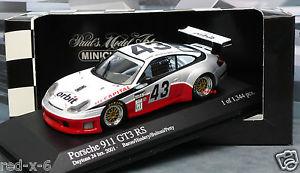 【送料無料】模型車 モデルカー スポーツカー ポルシェ#デイトナporsche 911 gt3 rs 43 orbit, 143, 24h daytona 2001, wie neu