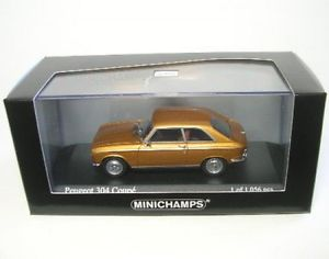 【送料無料】模型車 モデルカー スポーツカー プジョークーペゴールドメタリックpeugeot 304 coupe gold metallic 1972