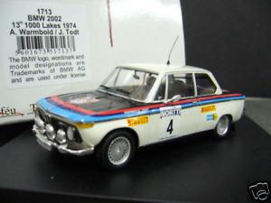 【送料無料】模型車 モデルカー スポーツカー ラリートッドフィンランド#bmw 2002 rallye 1974 warmbold todt 1000 seen lakes finnland 4 trofeu 143