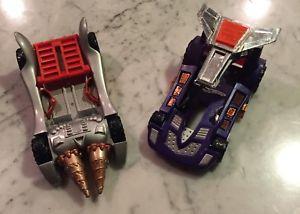 【送料無料】模型車 モデルカー スポーツカー ホットホイールレーサーhot wheels acceleracers driller hyperpod and carpoon hyperpod lot of 2 rare