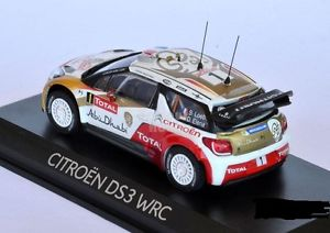 【送料無料】模型車 モデルカー スポーツカー シトロエンモンテカルロローブエレナcitroen ds3 wrc winner montecarlo 2013 loebelena 143 155359 norev