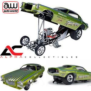 【送料無料】模型車 モデルカー スポーツカー シボレーカマロアイルランドautoworld aw1121 118 1971 chevrolet camaro fighting irish nhra funny car