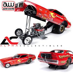 【送料無料】模型車 モデルカー スポーツカー autoworld aw1118 118 1971 gene snow rambunctious dodge charger nhra funny car