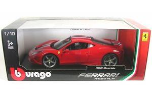 【送料無料】模型車 モデルカー スポーツカー フェラーリストライプレッドハットferrari 458 speciale red with stripes