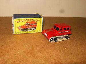 【送料無料】模型車 モデルカー スポーツカー ビンテージマッチシリーズancienne vintage lesney matchbox series n 35 snow trac 60s