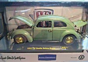 【送料無料】模型車 モデルカー スポーツカー フォルクスワーゲンデラックスモデルマシンチェイスチック1952 vw volkswagen beetle deluxe model m2 machines chase 500 autothentics 124