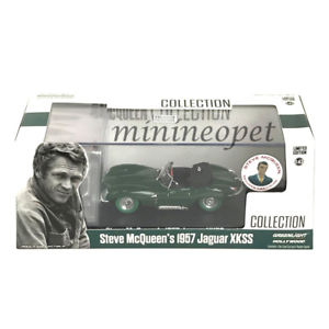 【送料無料】模型車 モデルカー スポーツカー ライトスティーブマックィーンジャガーgreenlight 86434 steve mcqueen 1957 jaguar xkss 143 with figure green chase