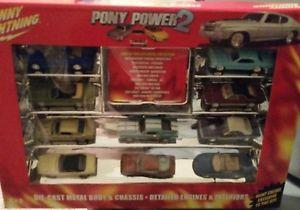 【送料無料】模型車 モデルカー スポーツカー ポニークーガージョニーpony power 2* set of 10 cars 65 cougar johnny lightning