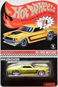 【送料無料】模型車 モデルカー スポーツカー ホットホイールセレクションシリーズフォードムスタンググリーン#hot wheels rlc 2013 selections series 69 ford mustang green 7474000 w