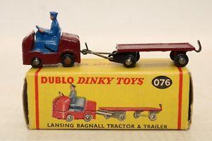 【送料無料】模型車 モデルカー スポーツカー トタートレーラーイングランドアンプdublo dinky toys no 076 lansing bagnall tractor amp; trailer meccano england